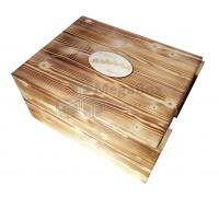 Декоративный деревянный ящик с обжигом
