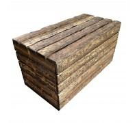 Ящик деревянный застаренный с крышкой