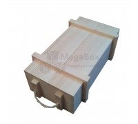 Ящик из массива сосны с веревочными ручками