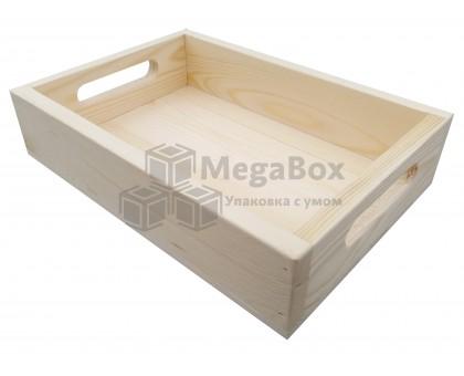 Деревянный ящик для витрины с ручками
