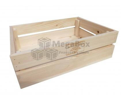 Реечный ящик с гравировкой