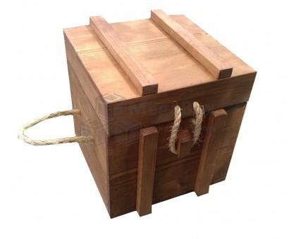 Ящик подарочный с крышкой и веревочным замком