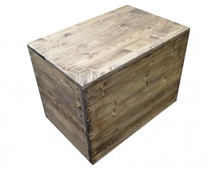 Ящик из дерева с крышкой и тонировкой