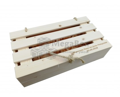 Деревянный реечный ящик с крышкой