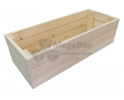 Ящик из сосновой рейки бытовой с фанерным дном