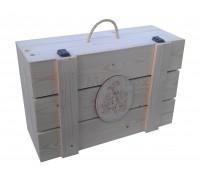 Деревянный ящик чемодан с защёлками для подарка