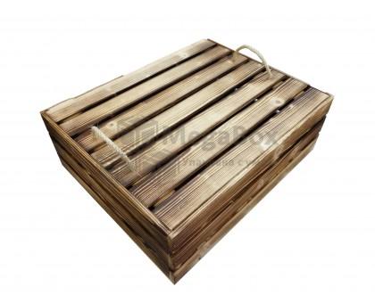 Декоративный реечный ящик с обжигом