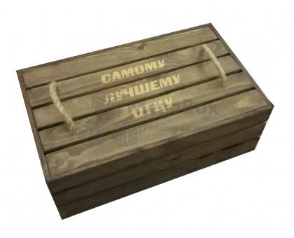 Ящик деревянный подарочный с тонировкой