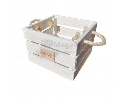 Ящик деревянный декоративный с ручками
