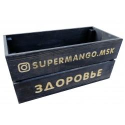 Ящик деревянный тонированный