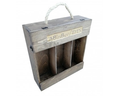 Футляр для бутылок деревянный с гравировкой