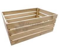Большой реечный деревянный ящик