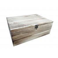 Ящик деревянный реечный с обжигом и фурнитурой