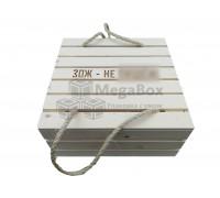 Ящик с веревочными ручками и гравировкой