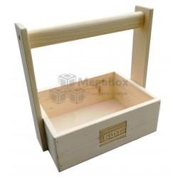 Деревянный сувенирный ящик с ручкой