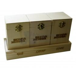Деревянный набор для чая и кофе
