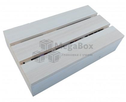 Малый реечный ящик для подарков с крышкой