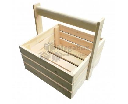 Ящик с деревянной ручкой