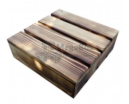 Малый декоративный реечный ящик с обжигом