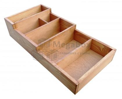 Деревянный ящик органайзер с отсеками