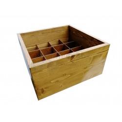 Ящик из массива сосны подарочный на 16 бутылок