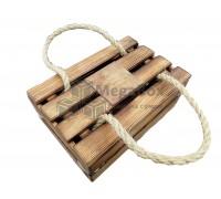 Деревянный ящик подарочный с ручками и крышкой