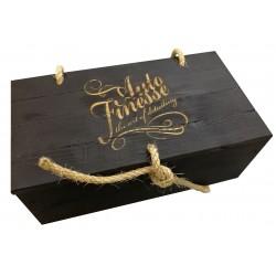 Ящик сувенирный с веревочными петлями и завязкой